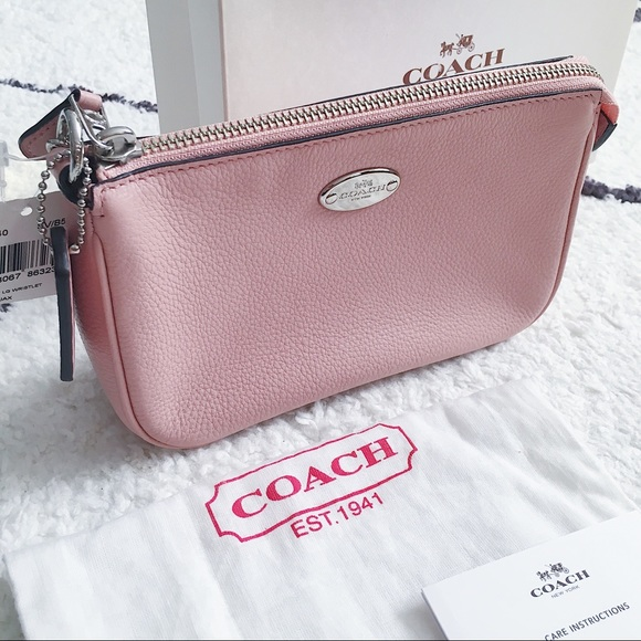Coach Handbags - Coach Pink Mini Purse/Large Wristlet 🎉HOST PICK🎉